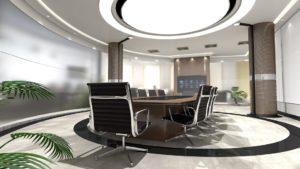 salle de réunion avec fauteuils