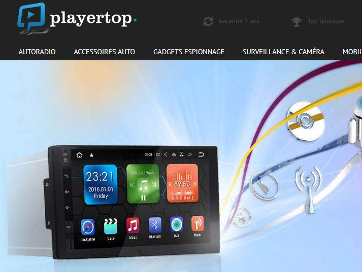 player top boutique autoradio pas cher